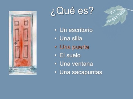 Spanish Classroom Objects PowerPoint and Interactive Notebook Activities